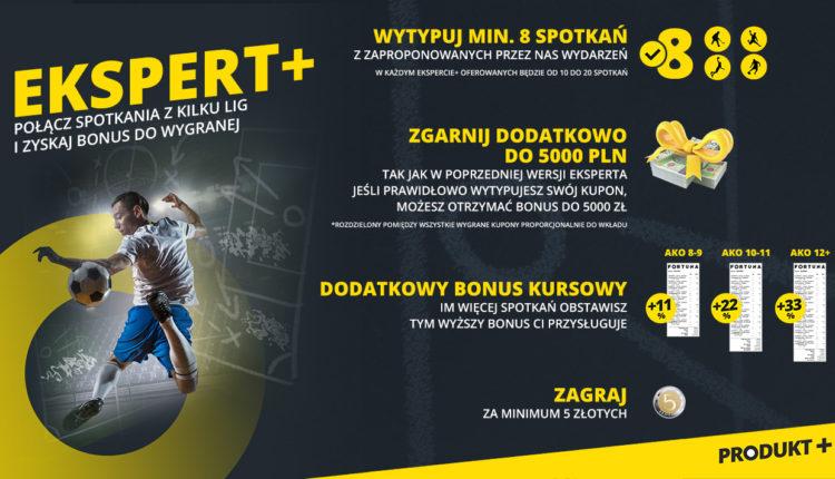 """Nowa oferta zakładów bukmacherskich Fortuna """"EKSPERT+"""""""