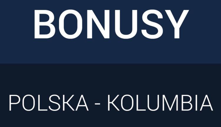 Bonusy bukmacherskie na mecz Polski z Kolumbią